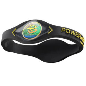 Power Balance -The Original Performance Wristband   Black With Yellow Lettering