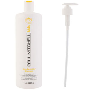 Paul Mitchell Baby Don't Cry Shampoo (1000ml) with Pump (Bundle)