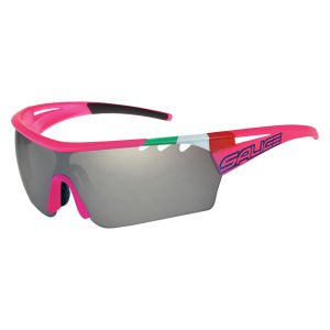 Salice 006 Lampre Merida Sunglasses - Flo Fuchsia ITA/Photochromic Smoke