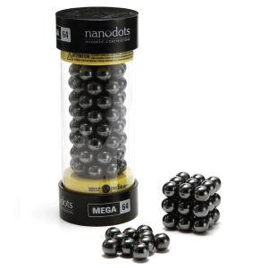 Mega Nanodots Magnetic Constructors Black - 64 Dots