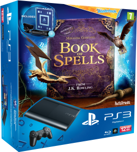PS3: New Sony PlayStation 3 Slim Console (12 GB) - Black - Includes Book of Spells and Wonderbook