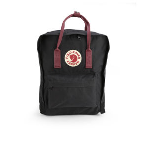 Fjallraven Women's Kanken Backpack - Black/Ox Red