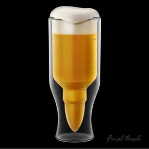 Bullet Beer Glass Gift Tube