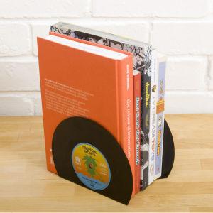 Retro-Buchstützen aus Vinyl
