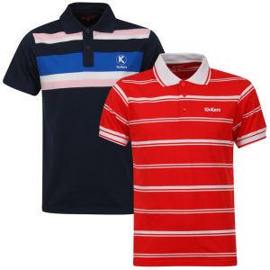 Kickers Men's Kerome 2-Pack Polos - Blue/Red