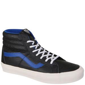 Vans Sk8-Hi Top Leather Trainers - Black / True Blue