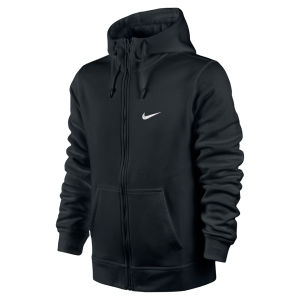 Nike Men's Club Full Zip Hoody - Black
