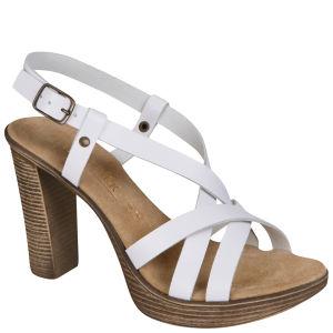 Stylist Pick 'Crimson' Women's Leather Sandal - White
