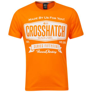 Crosshatch Men's Lipky T-Shirt - Bright Orange