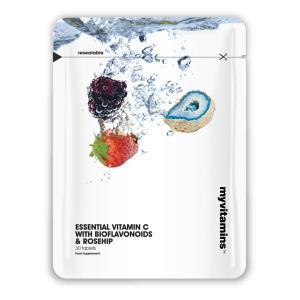 Lebenswichtige Vitamin C mit Bioflavonoiden und Hagebutten