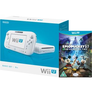 Wii U Console: 8GB Basic Pack - White (Includes Disney's Epic Mickey: The Power Of 2)