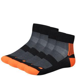 Helly Hansen Bike Elite Tech 2-Pack Socks - Black/Fluo Orange
