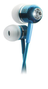 BassBuds Classic Collection Ohrhörer mit Swarovski Element - Hellblau