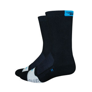 DeFeet Thermeator 6 Inch Cuff Socks - Black/Blue