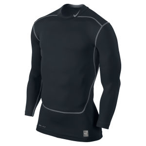 Nike Men's Core Compression Long Sleeve Mock Top 2.0 - Black