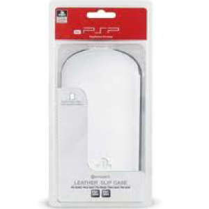 Official Sony PSP 3000 White Pull Up Tab Leather Slip Case