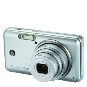 GE E1100 11 Megapixel Digital Camera - Silver - Brown Boxed