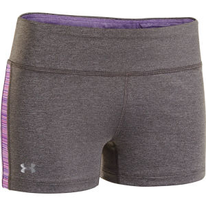 Under Armour Women's Sonic Varsity Shorts - Carbon Heather/Pride