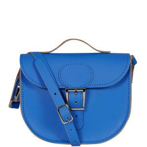 Brit-Stitch Leather Half Pint Shoulder Bag - Skydiver (Straps On Side)