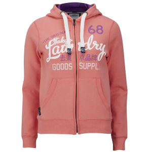 Tokyo Laundry Women's Miah Zip Through Hoody - Laundered Coral