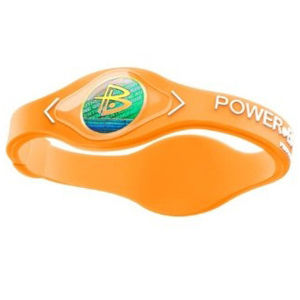 Power Balance -The Original Performance Wristband   Cypress Orange With White Lettering