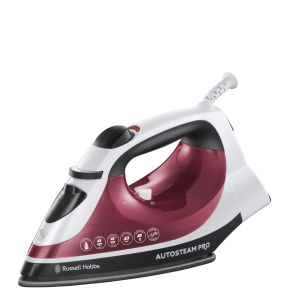 Russell Hobbs 2400W Iron Auto Steam Pro - Red