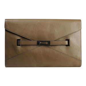 French Connection Game On Large Leather Envelope Clutch