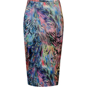 Glamorous Women's Neon Print Midi Skirt - Navy/Multi