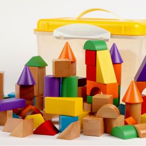 Tidlo 100 Wooden Blocks In a Tub