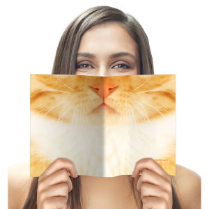 Animal Face Notebook - Cat