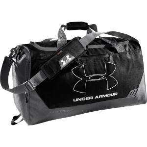 Under Armour Men's Hustle Medium Duffle Bag - Black/Graphite/Silver