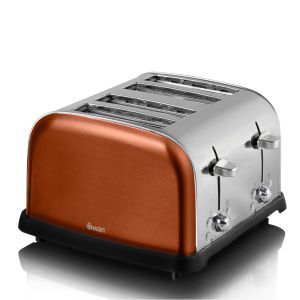 Swan ST16010COPN 4 Slice Metallic Toaster - Copper