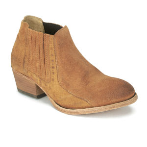 H Shoes by Hudson Women's Emmett Suede Heeled Ankle Boots - Tan ...