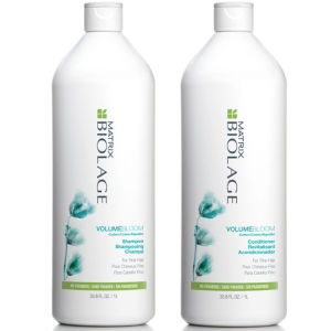 Matrix Biolage advanced VolumeBloom Duo Shampoing (1000ml) et Soin Revitalisant (1000ml)