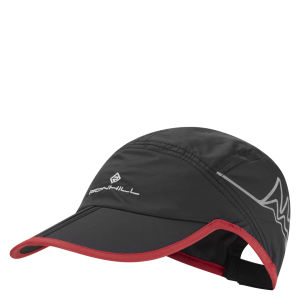 RonHill Mens Trail Cap - Black/Cardinal Red
