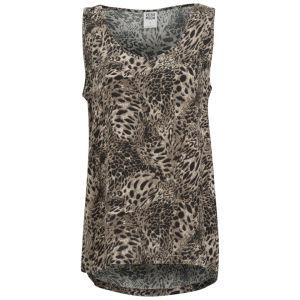 Vero Moda Women's Easy Leopard Print Tank Top - Black