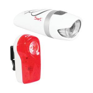 Smart Lunar 25 Front and Rear Cycle Lightset - White