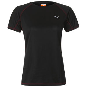 Puma Women's Drycell Running T-Shirt - Black/Grey