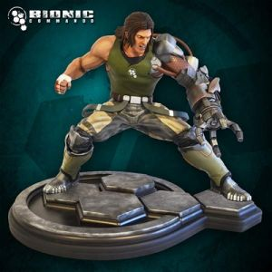 Hollywood Collectibles Bionic Commando Nathan Rad Spencer 1:4 Scale Statue - Limited to 500 Worldwide