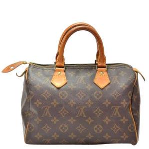 Louis Vuitton Vintage Canvas Speedy 25 City Bag