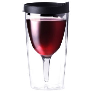 Vino2Go Portable Wine Cup - Black