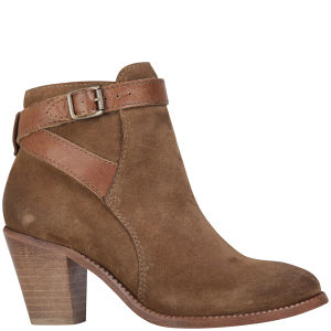 H Shoes by Hudson Women's Lewknor Suede/Leather Heeled Ankle Boots - Tan