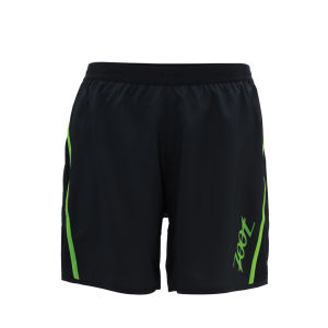 Zoot Men's Ultra Run Icefil 6 Inch Shorts - Black/Green Flash