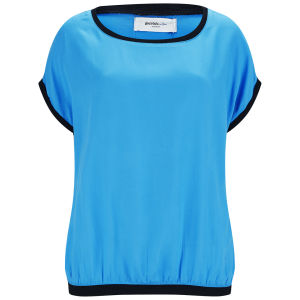 Vero Moda Women's Silan Sporty Contrast Top - Brilliant Blue