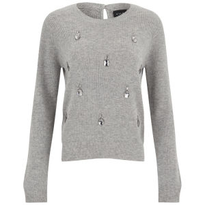 VILA Women's Williamson Jumper - Light Grey