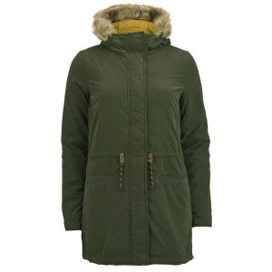 ONLY Women's Lucca Contrast Parka - Peat