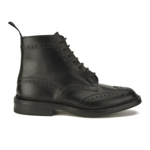 Tricker's Men's Stow Dainite Leather Brogue Boots - Black