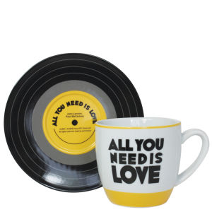 Lennon and McCartney Mug and Saucer Set - All You Need Is Love