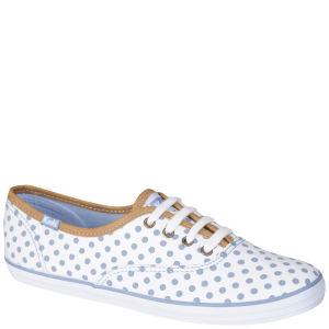 Keds Women's Champion Oxford Pumps - White/Blue Polka Dot