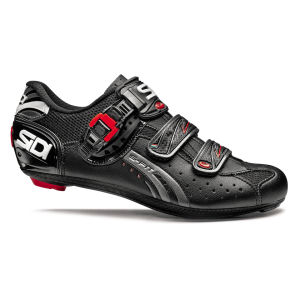 Sidi Genius 5 Fit Mega Carbon Cycling Shoes - Black/Titanium